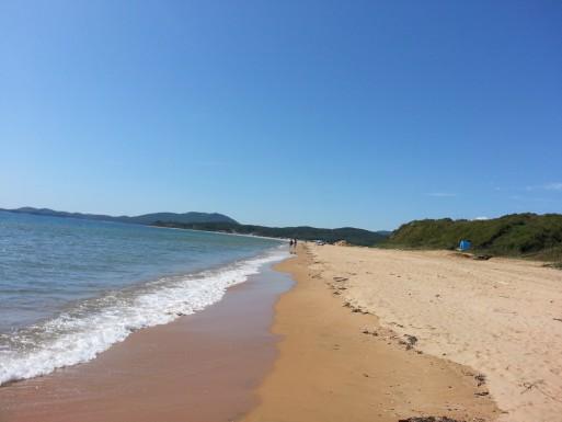 Первый пляж, прибрежная полоса