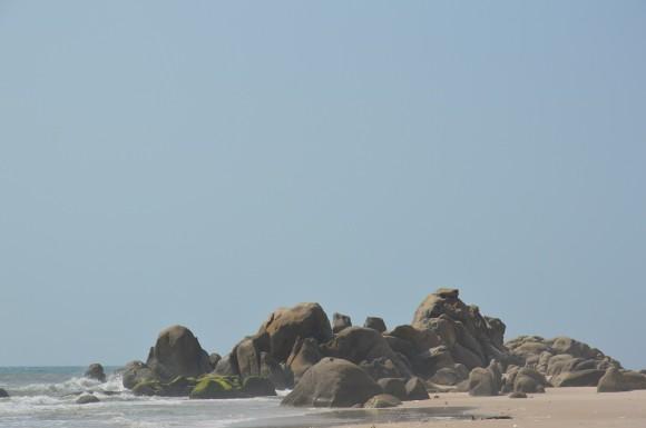 Вид в конце пляжа